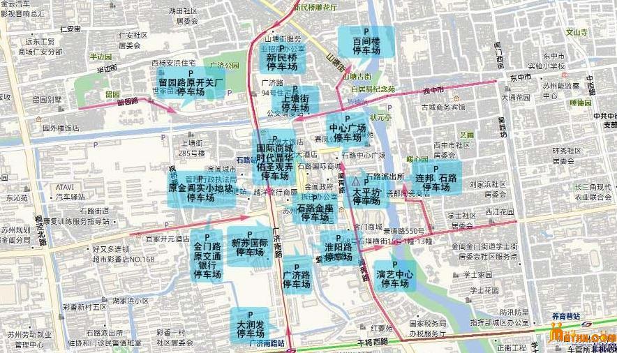 """姑苏区首推""""网上轧神仙""""手绘地图时尚新颖"""